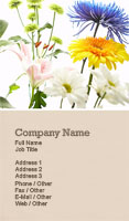 Wild Flowers Business Card Template